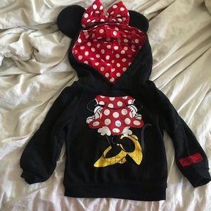 Minnie Mouse ears hood pullover sweater Disneyland